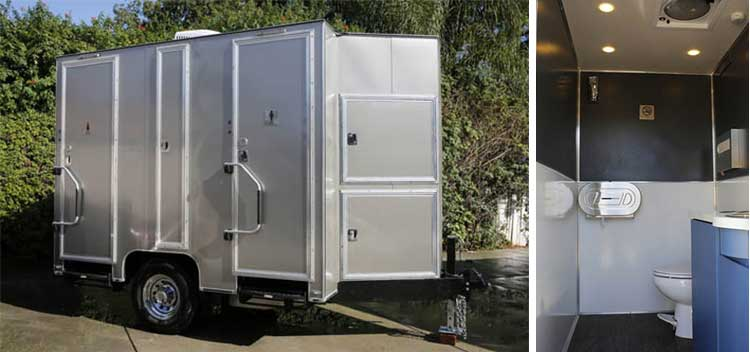 Portable toilet and restroom rental for weddings in Ventura County